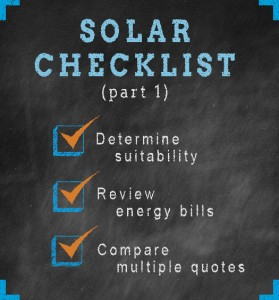 go solar checklist compare multiple quotes energysage