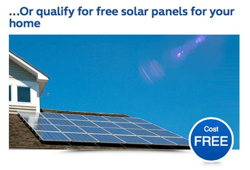 Free solar panels UK