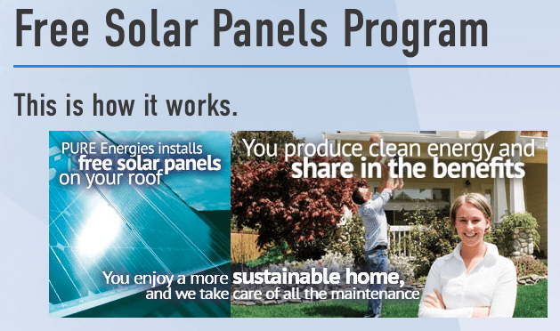 Free solar panels pure energies