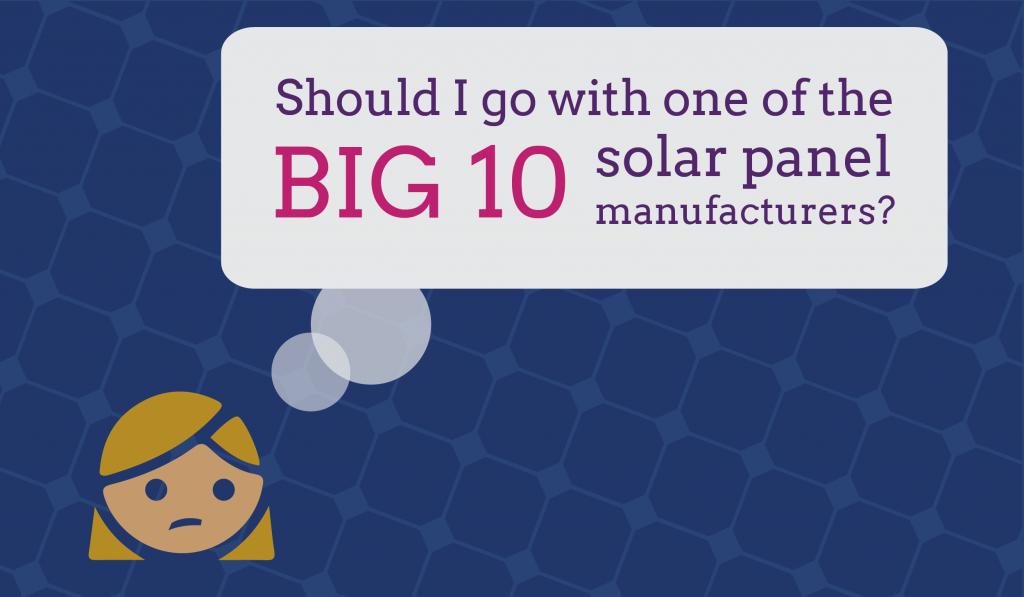 Big ten solar panel manufacturers