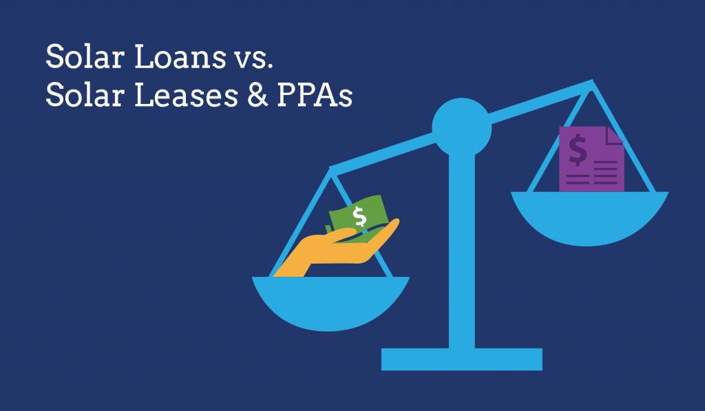 solar loan vs lease