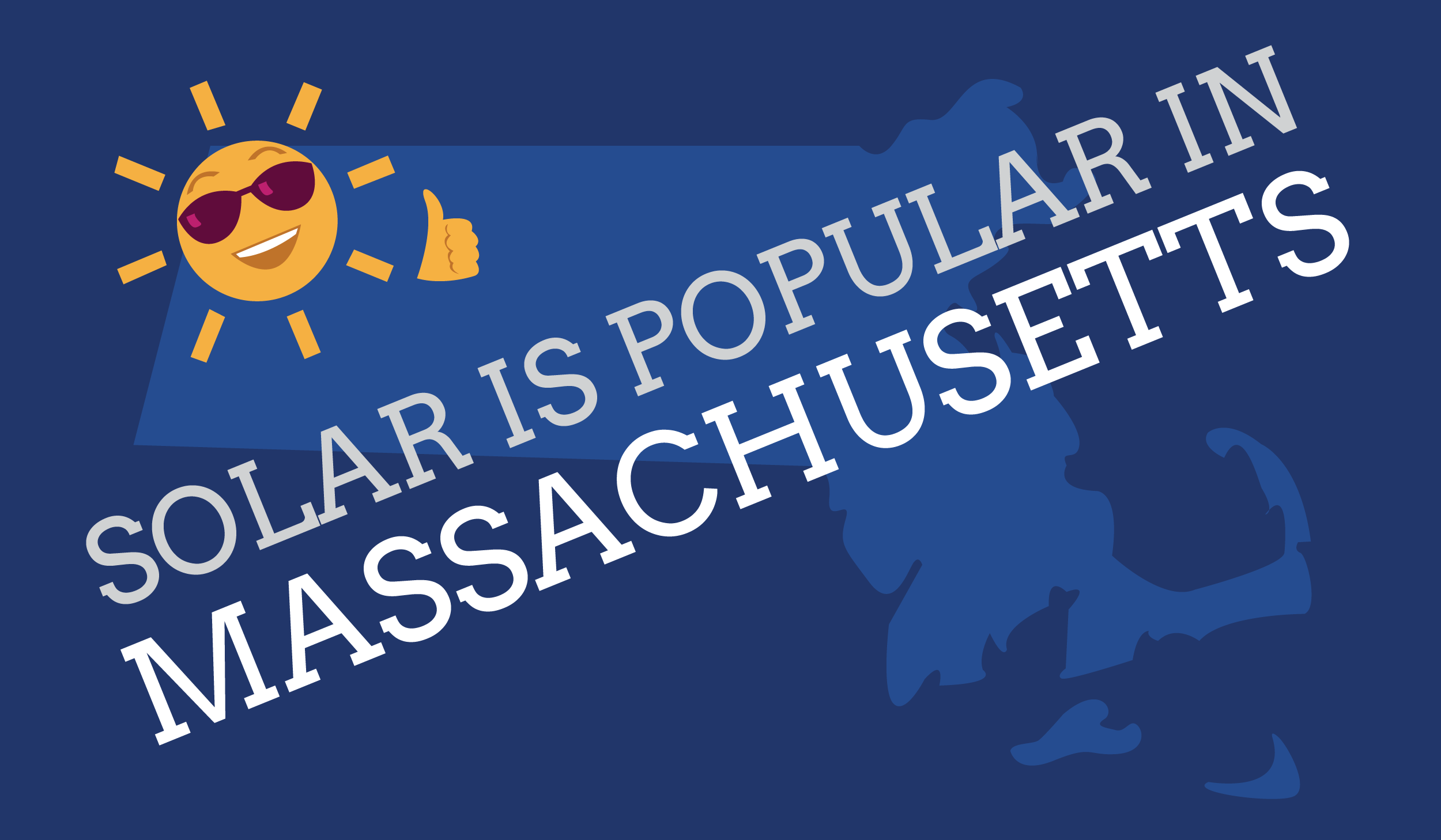Solar panels popular in Massachusetts graphic