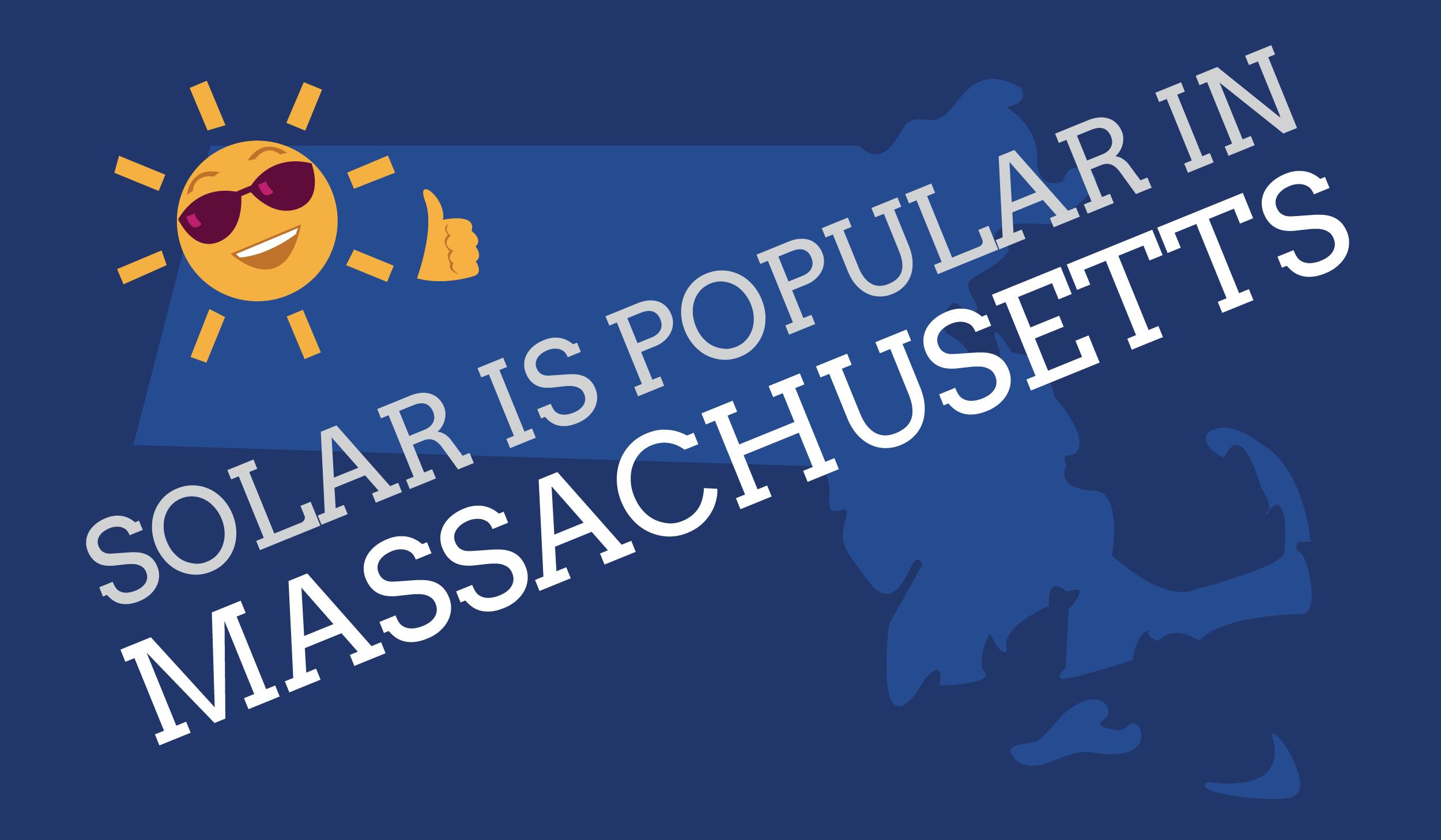 Solar panels popular in Massachusetts graphic