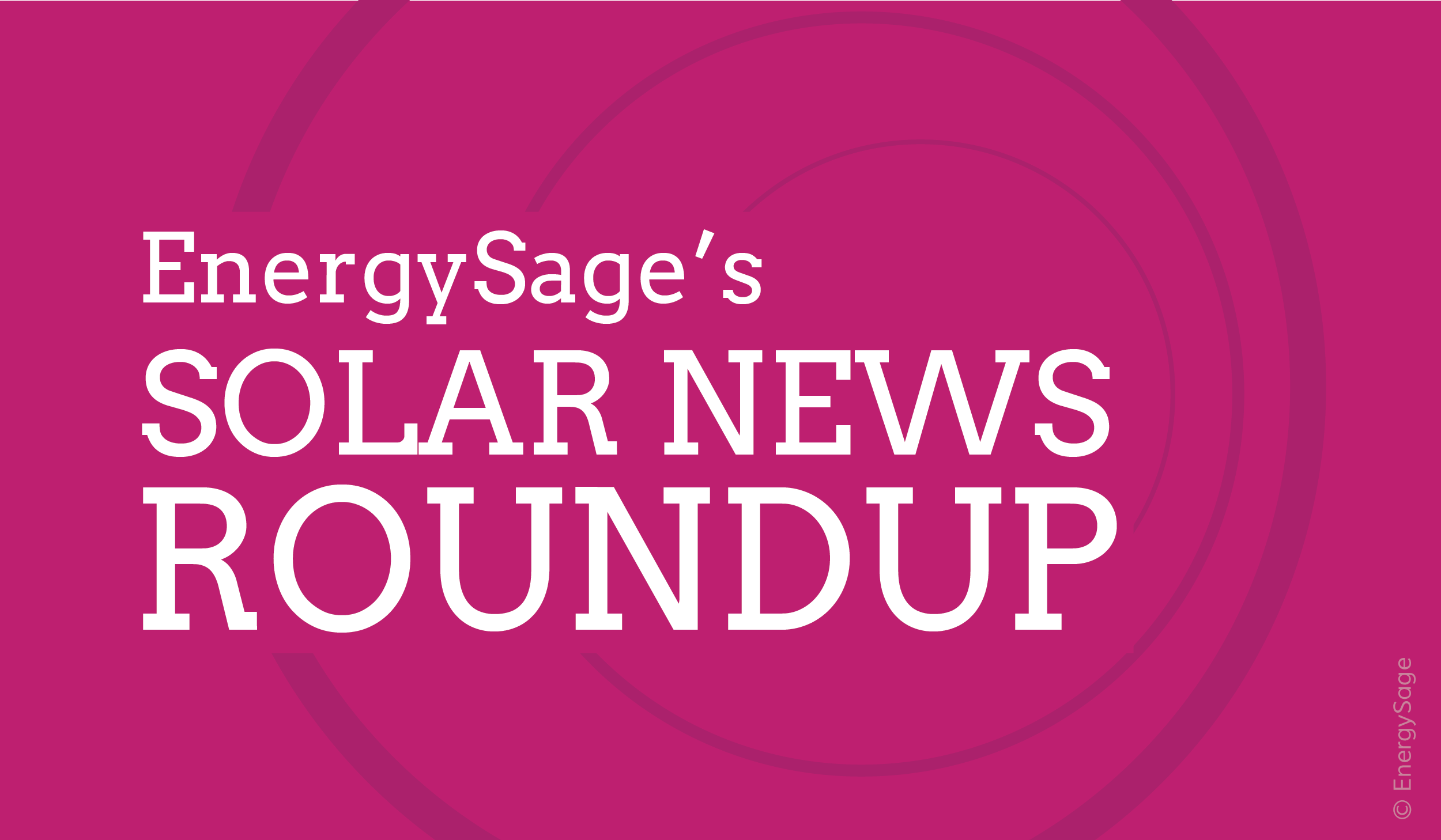 solar energy news for the week