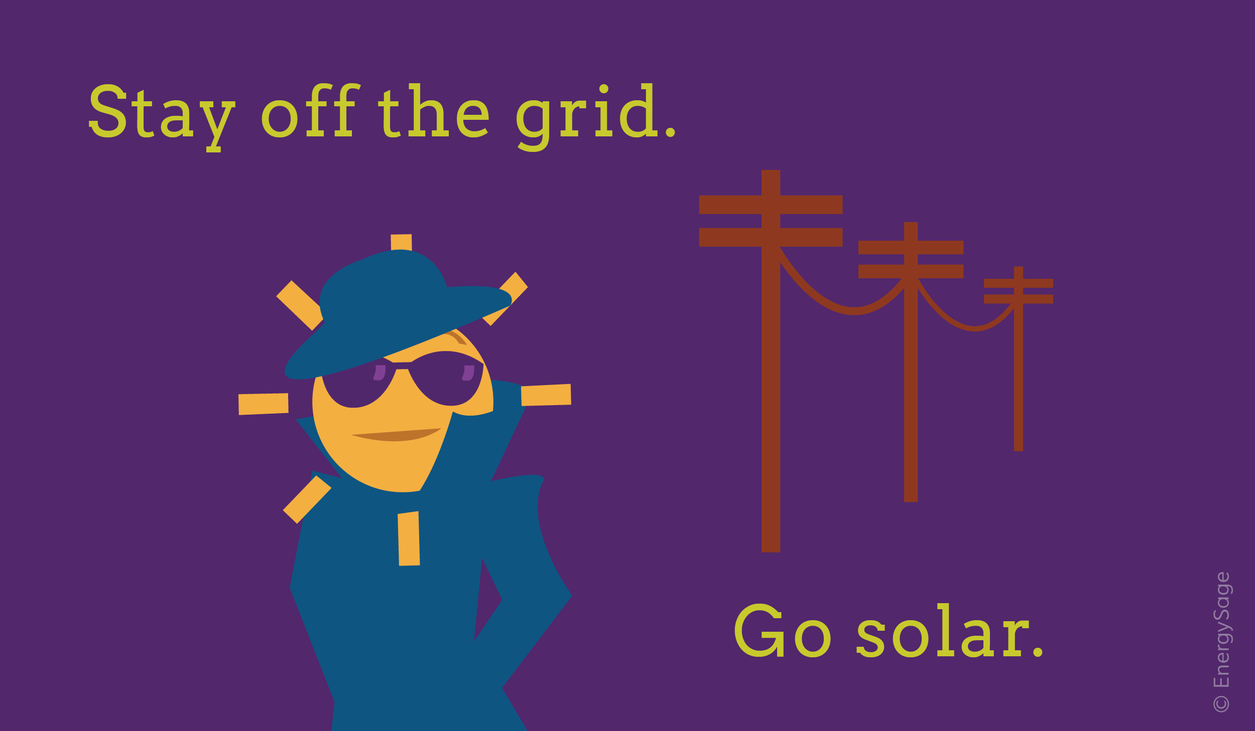 off grid solar energy graphic energysage