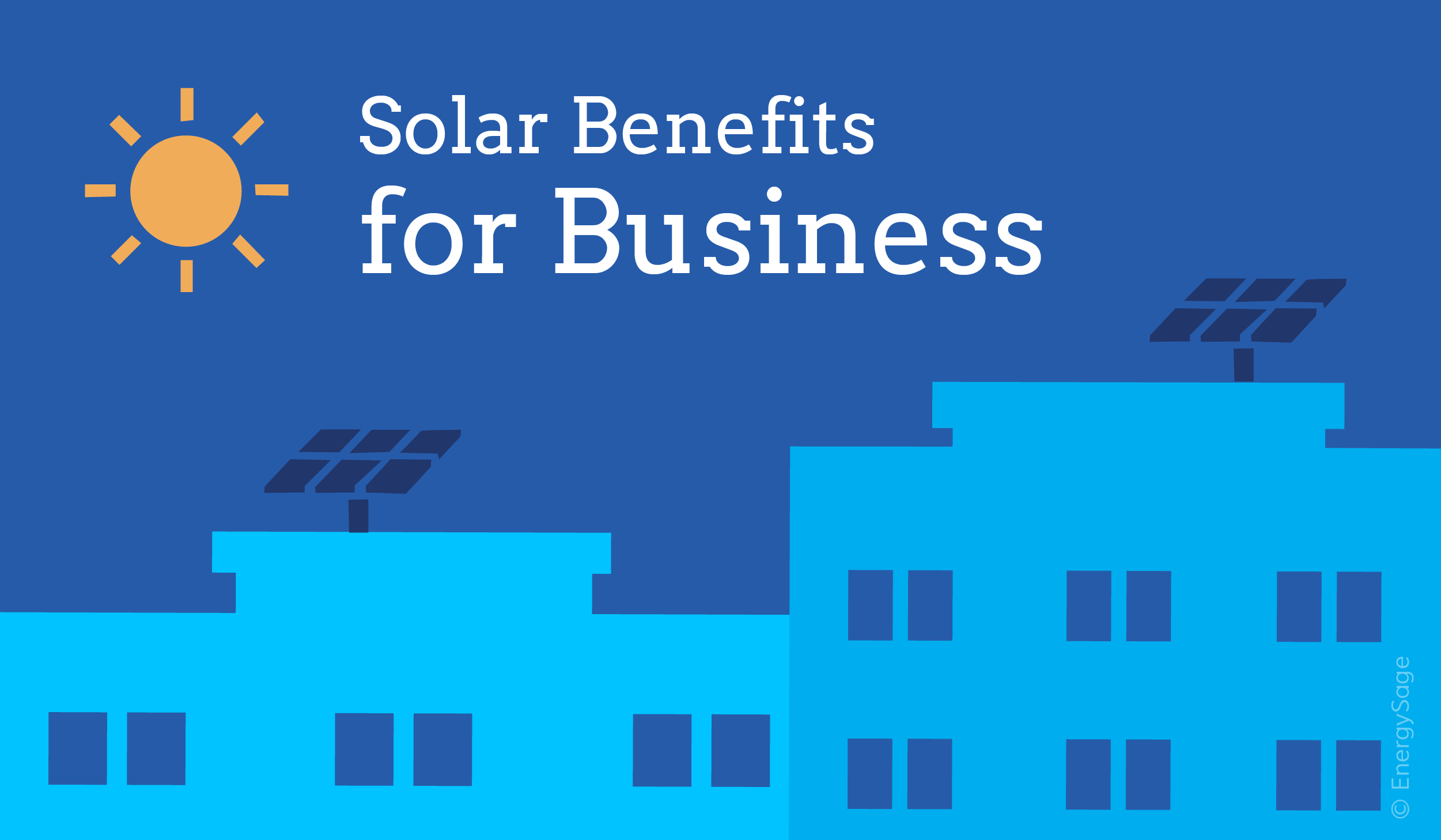 Commercial solar benefits for business