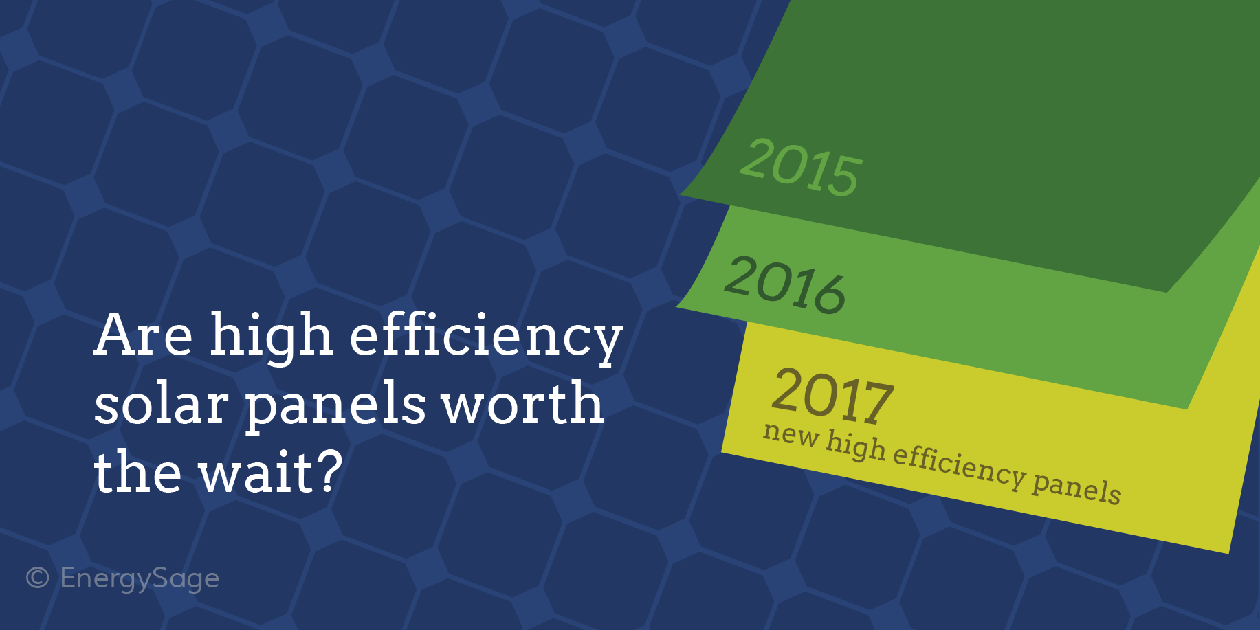 Should you wait to get the most efficient solar panels?