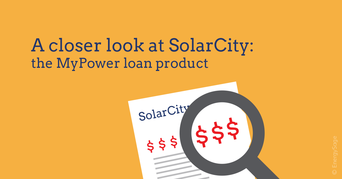 SolarCity MyPower loan reviews and explanation graphic