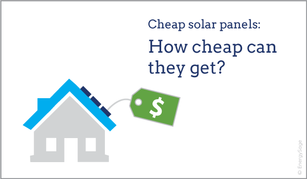 cheapest solar panels per watt EnergySage