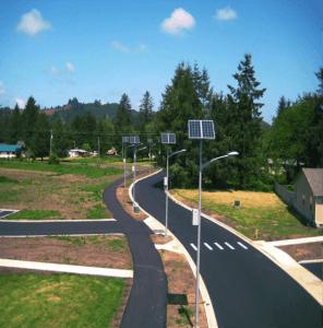 street light powered with solar energy