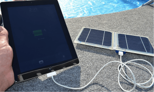 charging an iPad with solar