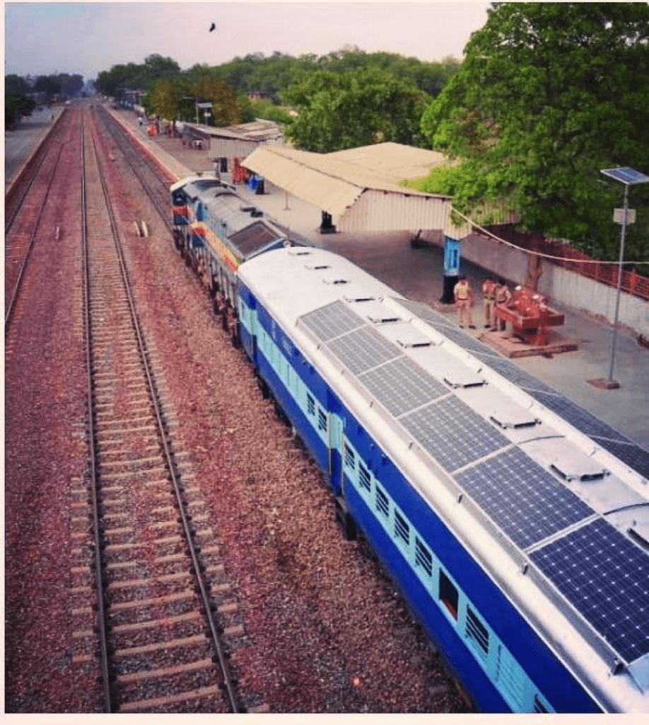 solar powered train as a use of solar energy
