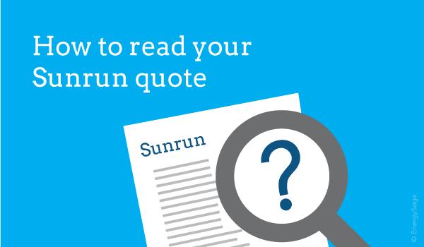 Comparing Sunrun offer EnergySage
