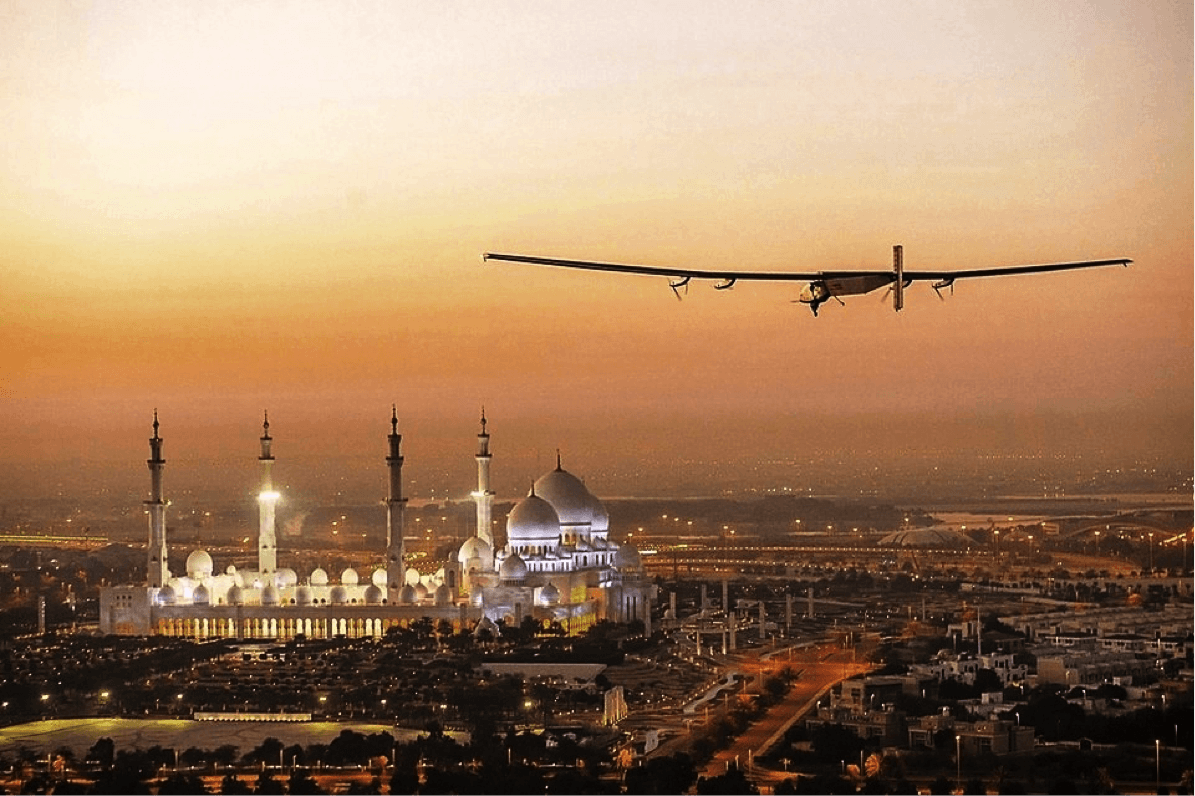 solar powered plane completes journey