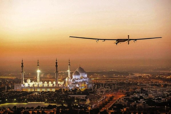 solar impulse arrives in abu dhabi