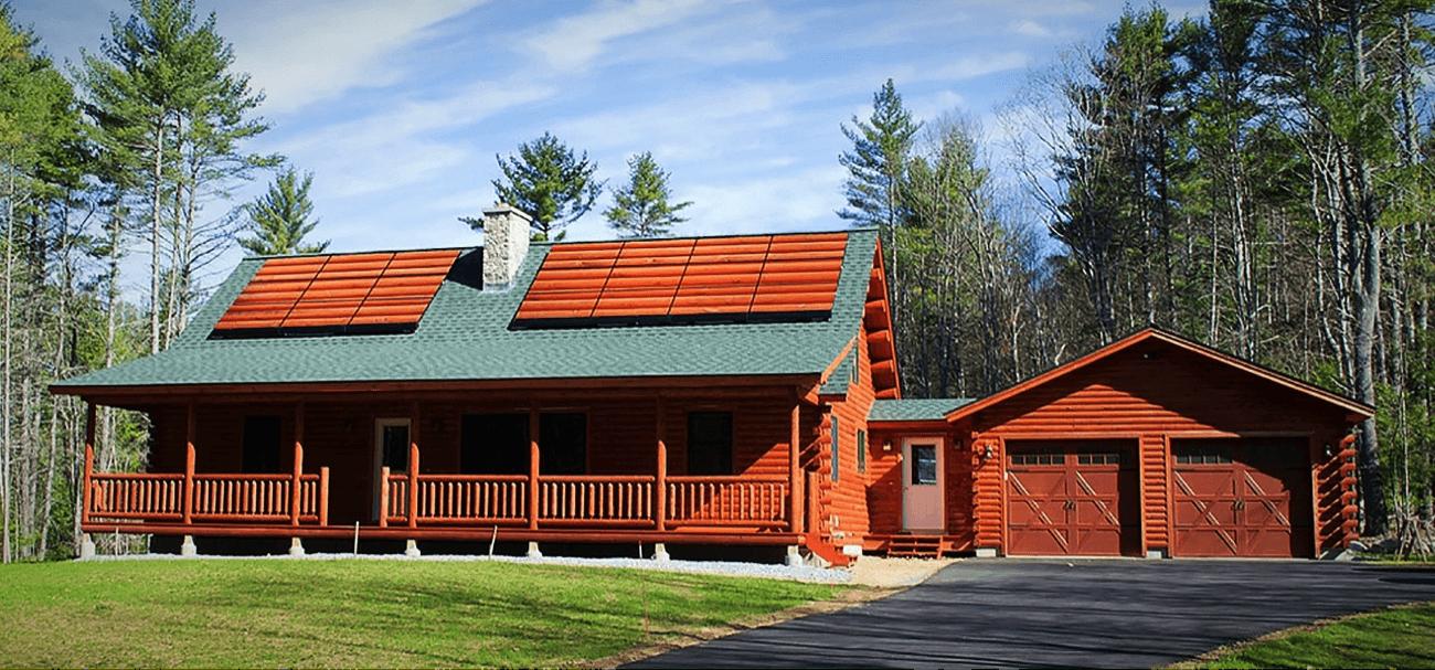customizable solar skin on house