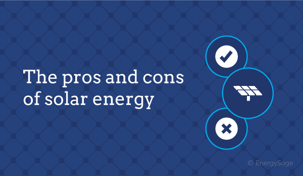 pros and cons of solar energy graphic energysage