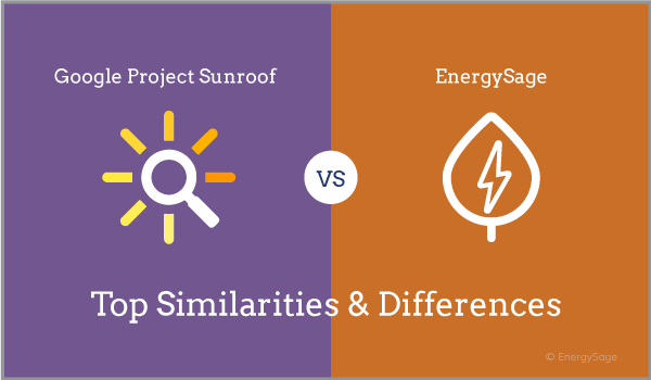 project sunroof google solar compared to energysage