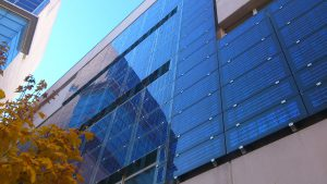 A building in Spain with a BAPV side solar facade