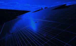 solar panels during nightime