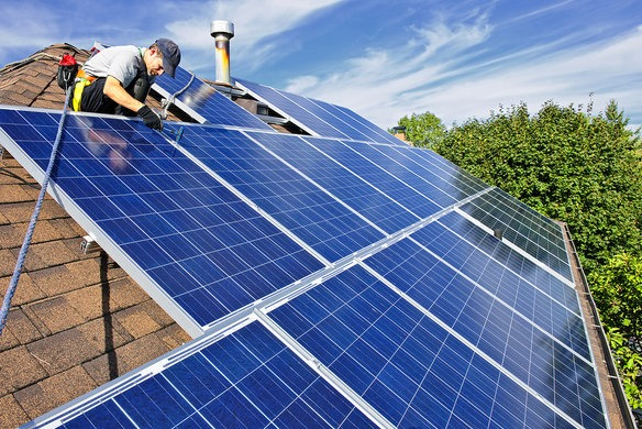 Image result for solar power installation