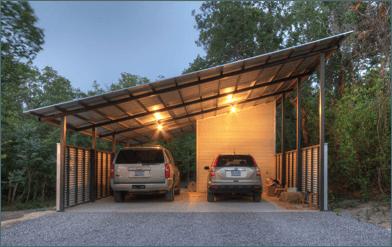 solar carport angled