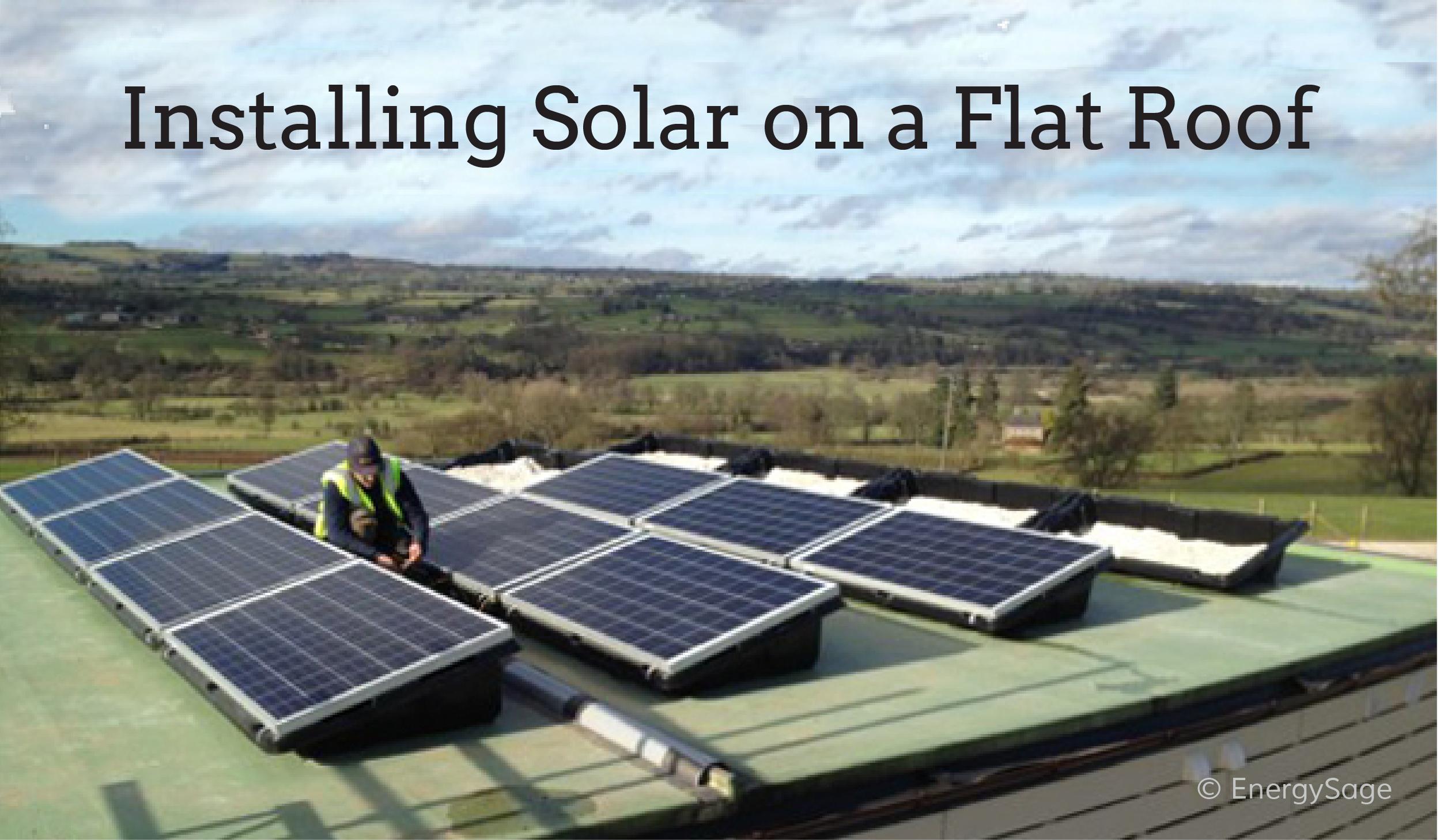 solar on a flat roof EnergySage