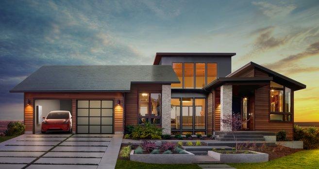 Teslau0027s Solar Panel Roof: Solar Glass Tiles Are The New Solar Shingles