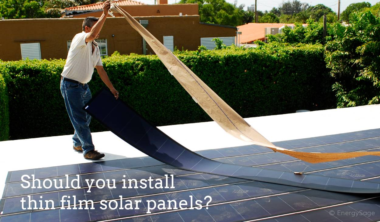 thin film solar panels graphic
