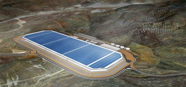 tesla's solar powered gigafactory in nevada
