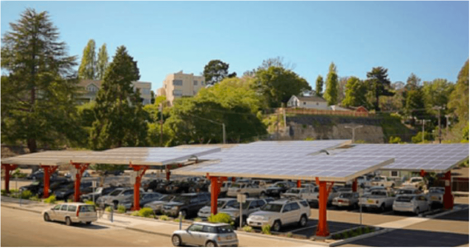 solar parking canopy Santa Cruz CA