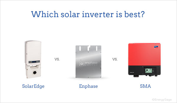 best solar inverters enphase vs solaredge vs sma