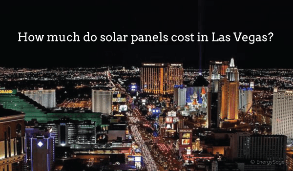 cost of solar panels las vegas