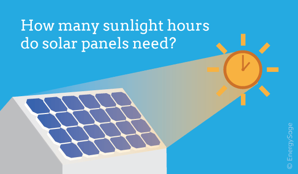 how many sunlight hours do solar panels need