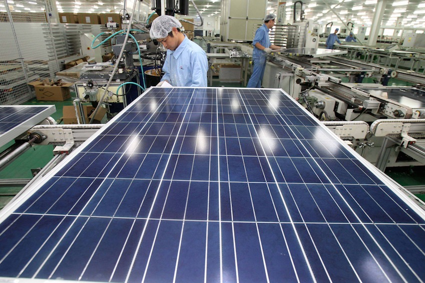 chinese solar panel manufacturing