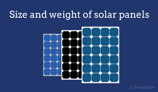 solar panel size and weight