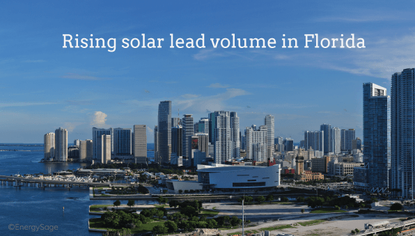 2019 Qualified Solar Lead Volume in Florida | EnergySage