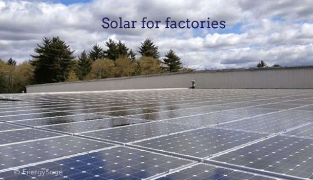 solar for factories