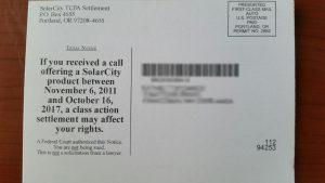 solarcity class action lawsuit mailer