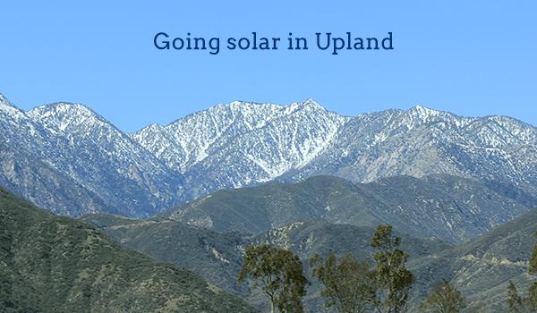 solar panels upland