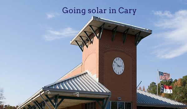solar panels cary
