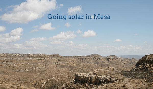solar panels mesa