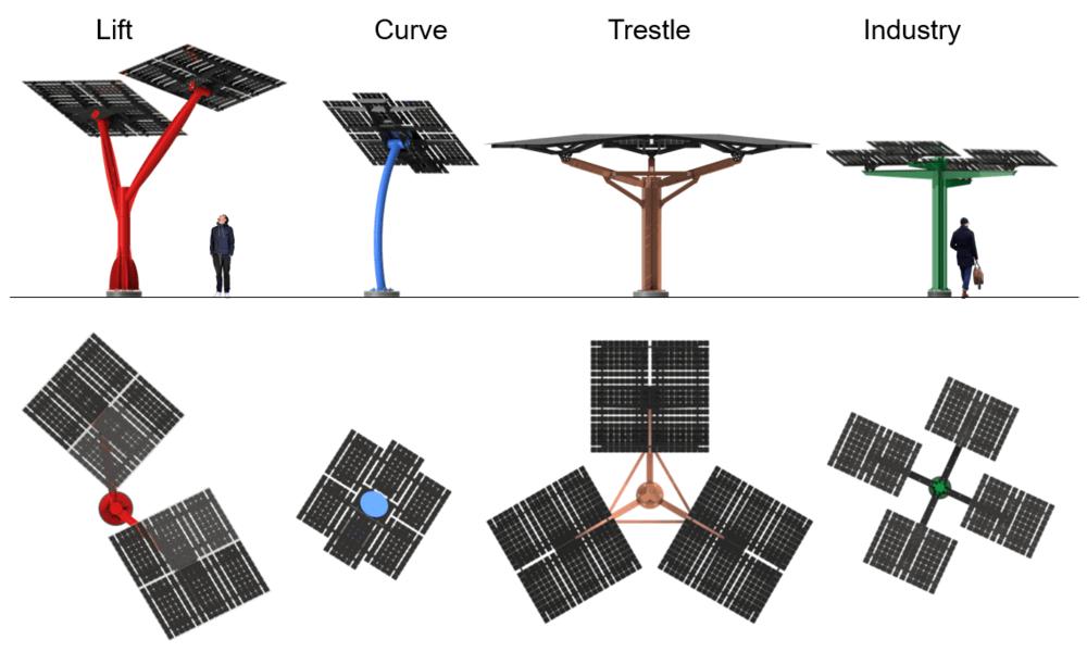 spotlight solar trees