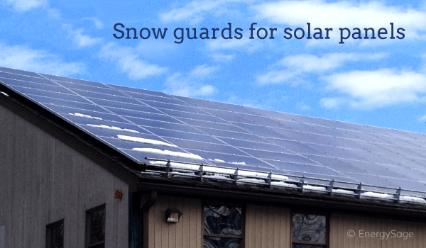 snow guards for solar panels