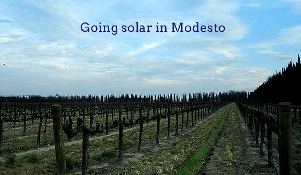 solar panels modesto