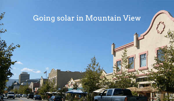 solar panels mountain view