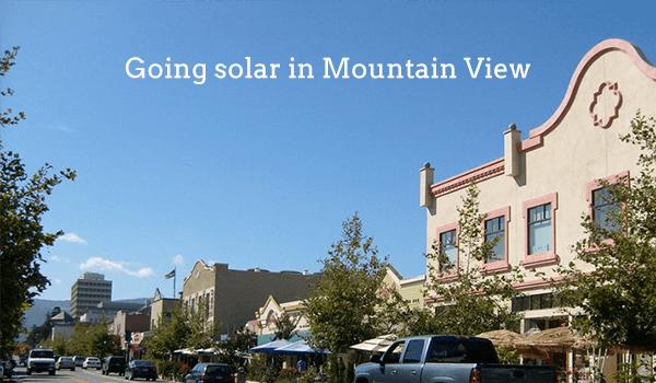solar panels mountain view