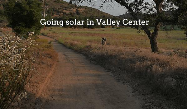 solar panels valley center