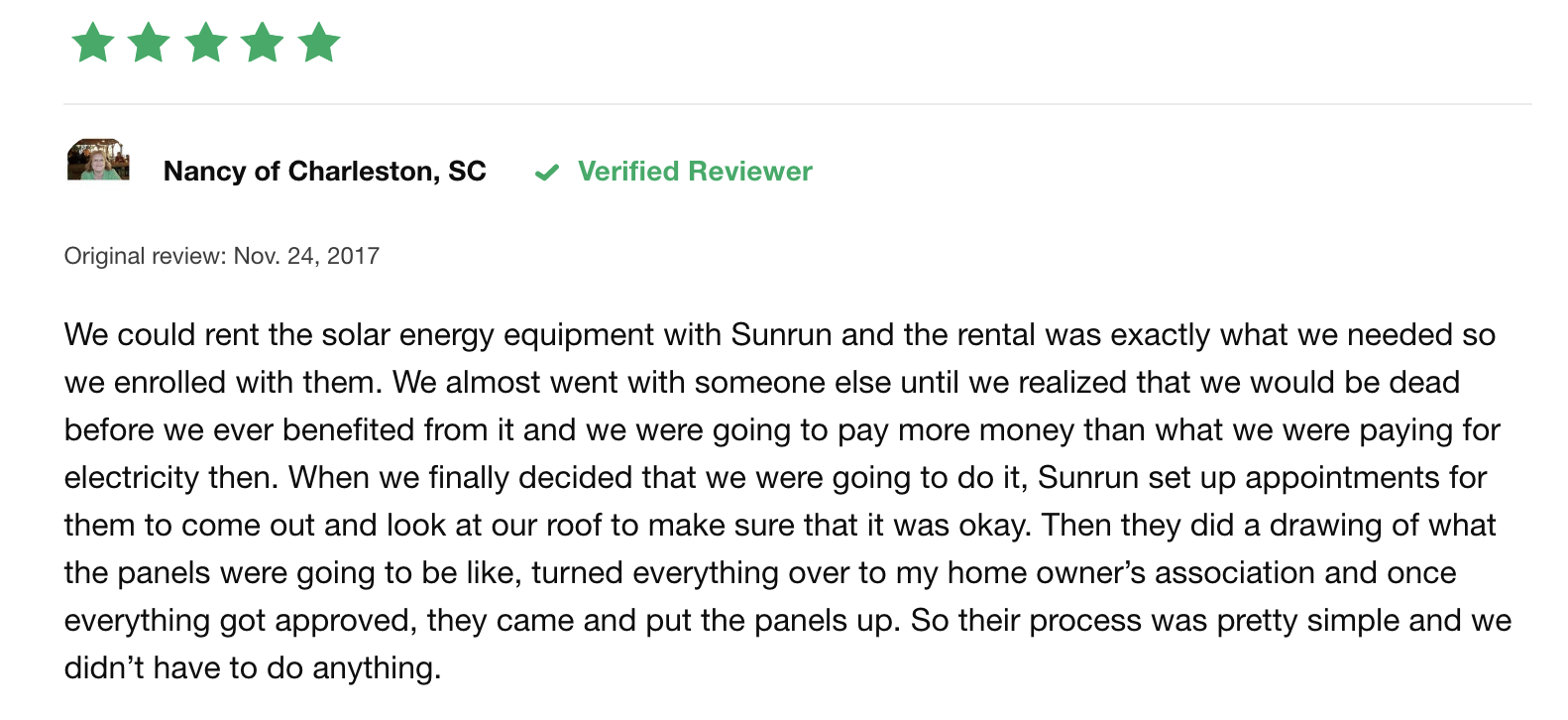 sunrun consumer review