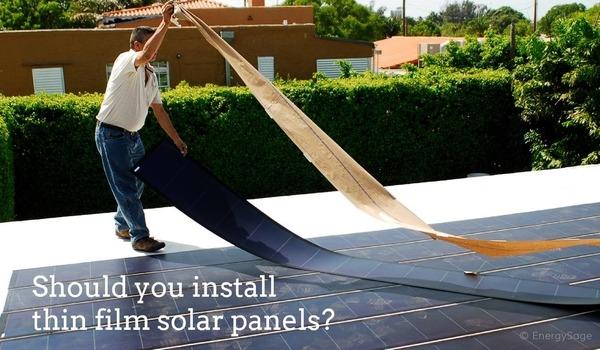 thin film solar panels should you install